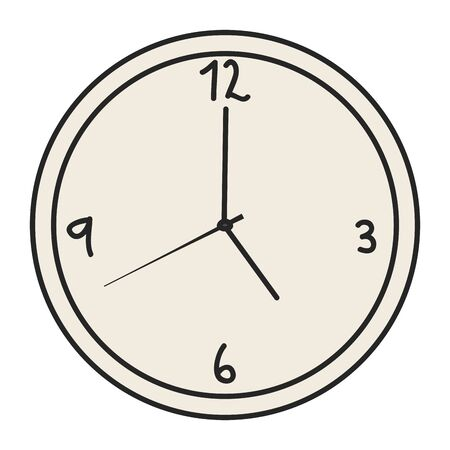 time clock watch of wall vector illustration design Çizim