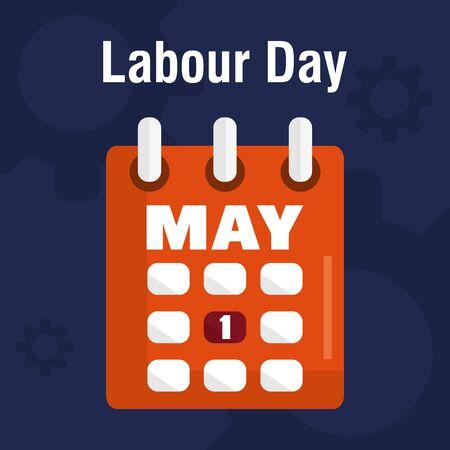 calendar reminder labour day Banco de Imagens - 132102176