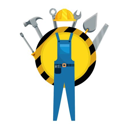 construction architectural tools safety cartoon vector illustration graphic design Illustration