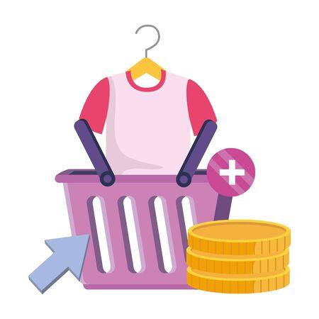 Shopping icon set design, Store online ecommerce media market and internet theme Vector illustration 일러스트