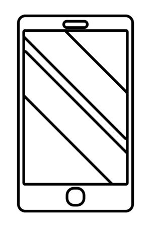 technology device smartphone cartoon vector illustration graphic design