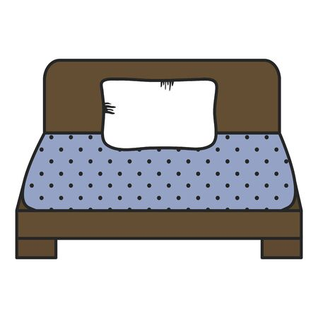bed of wooden forniture icon