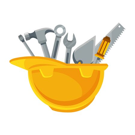 construction architectural tools cartoon vector illustration graphic design Ilustrace