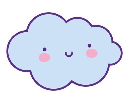 Isolated cloud cartoon vector design