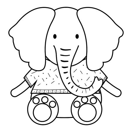 cute elephant childish character Stock Illustratie