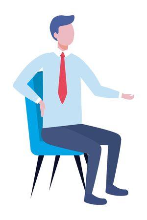 Businessman design, Man business management corporate job occupation and worker theme Vector illustration Ilustrace