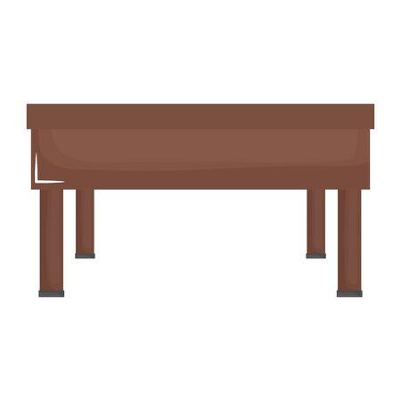 schooldesk wooden education isolated icon Stock Illustratie