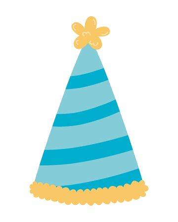 Hat design, happy birthday celebration decoration party festive and surprise theme Vector illustration