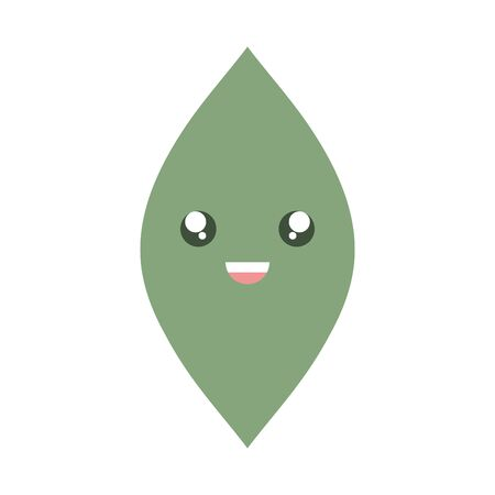 leaf plant garden character vector illustration design Çizim