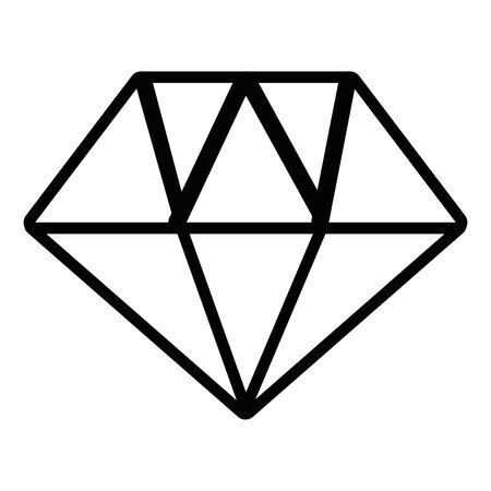 Isolated diamond gem icon design vector illustration  イラスト・ベクター素材