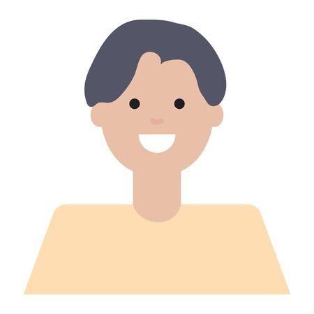 happy young man avatar character Stock fotó - 129578850