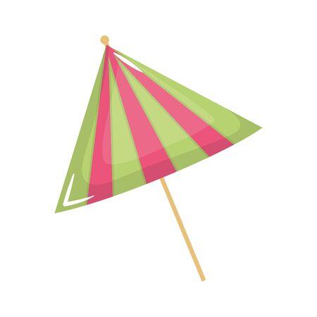 cocktail umbrella decoration isolated icon
