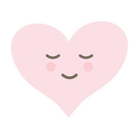 heart love  comic character Ilustração