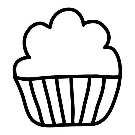 sweet cupcake pastry bakery icon Illustration