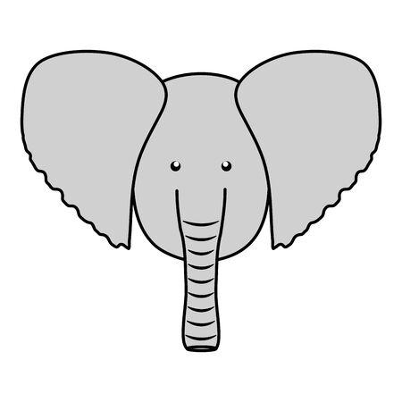 cute elephant woodland animal character