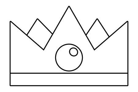 Isolated royal crown design vector illustration  イラスト・ベクター素材