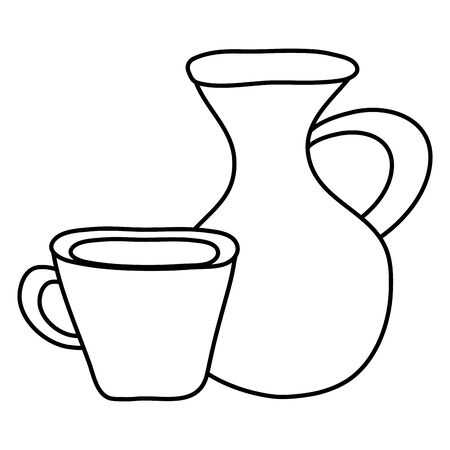 jar with cup beverage