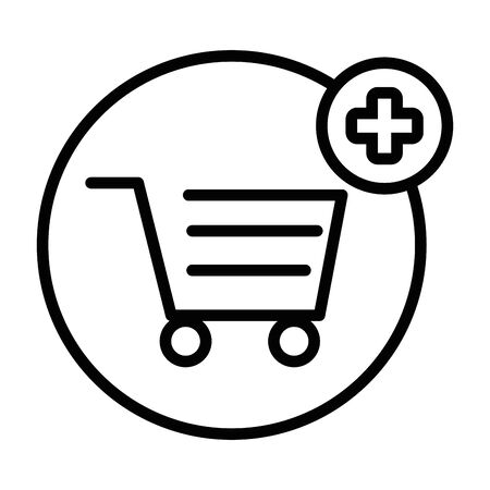 Shopping cart icon design vector illustration