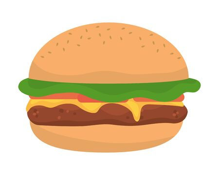 Isolated hamburger design vector illustrator