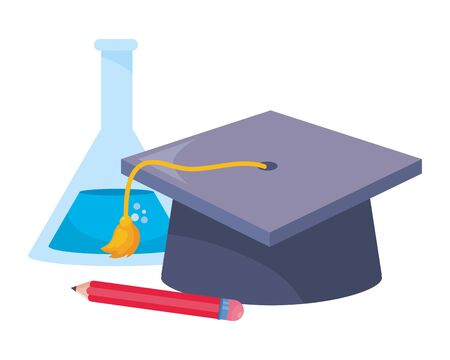 Isolated graduation cap design  vector illustration 일러스트