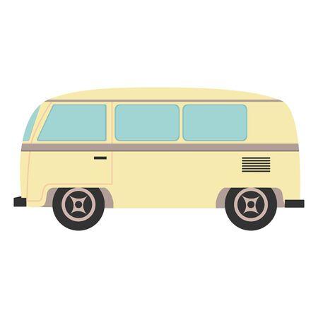 hippie van transport vehicle icon