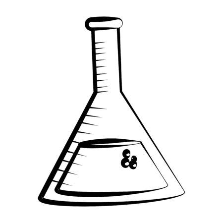 Isolated laboratory flask design vector illustration