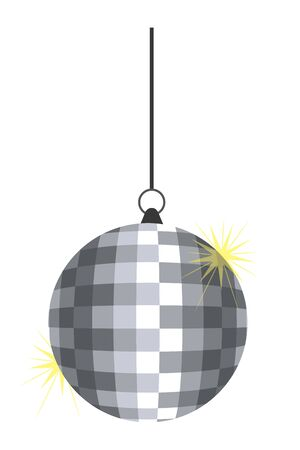 Isolated disco sphere design vector illustrator Illusztráció