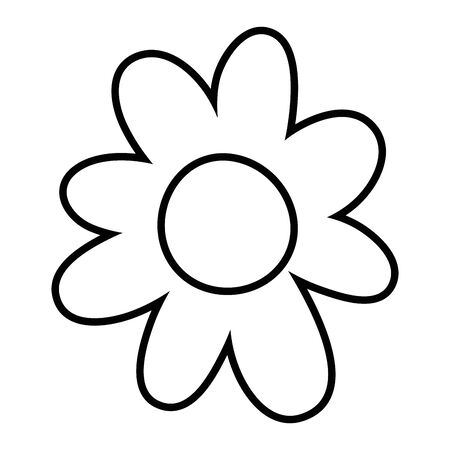 Isolated flower ornament design vector illustration 版權商用圖片 - 132101998