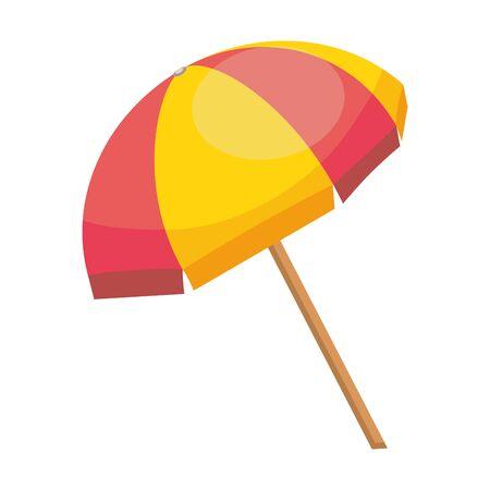 Isolated striped umbrella design vector illustration Illustration