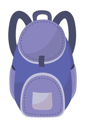 Isolated bag of school design vector illustration Stock Illustratie