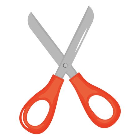 scissor school supply isolated icon  イラスト・ベクター素材
