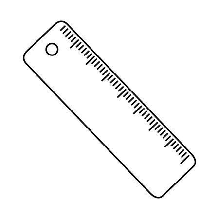 Isolated ruler tool design vector illustrator