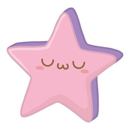 Kawaii of star cartoon design
