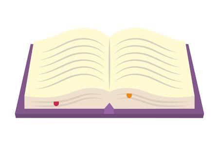 Isolated literature book design vector illustration