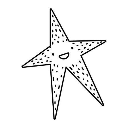 Isolated ocean sea star design Zdjęcie Seryjne - 132102279