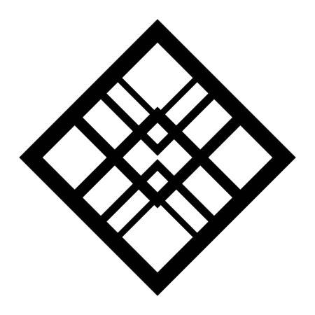 Isolated art deco shape design