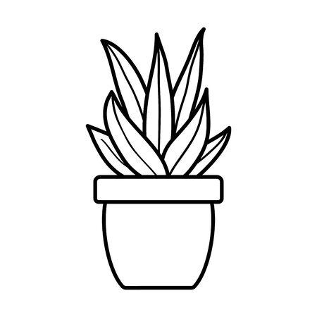 house plant in ceramic pot 向量圖像