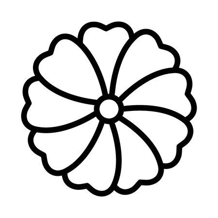 cute flower garden plant decorative icon