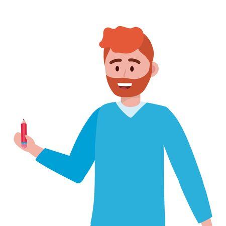 Man teacher of school design