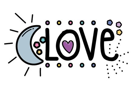 Isolated love word vector design Illustration