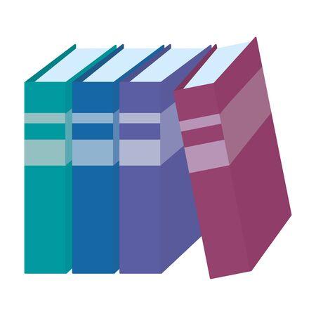 Group of books design vector illustrator