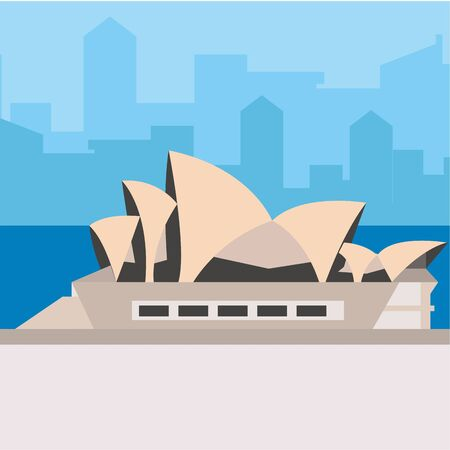 Opera House in Sidney design Vettoriali