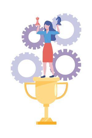Businesswoman avatar cartoon design vector illustration Фото со стока - 132102308