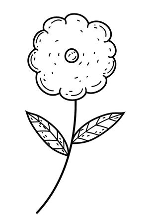 Isolated flower ornament draw design