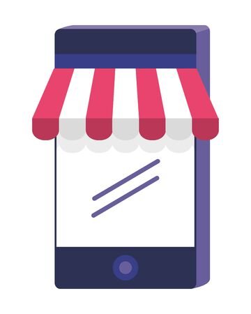 Smartphone and store icon design vector illustration 向量圖像
