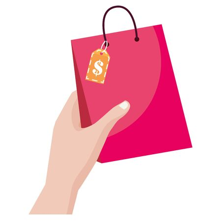 Shopping bag icon design vector illustration