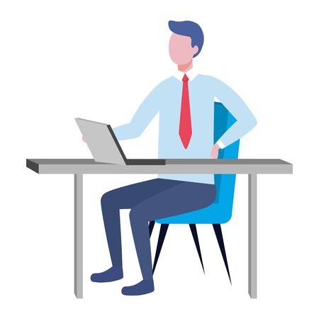 Businessman avatar cartoon design vector illustrator