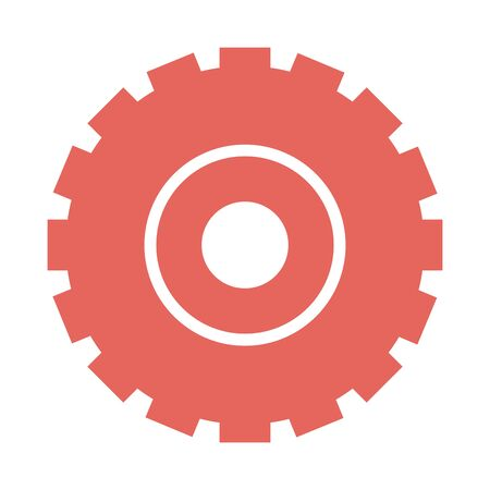Isolated gear part design vector illustration Фото со стока - 132103490