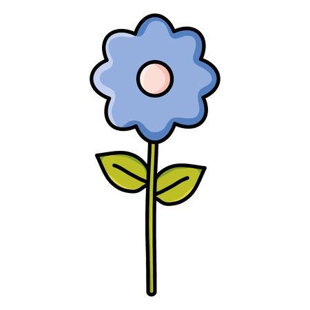 cute flower garden decorative icon