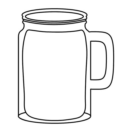 fresh juice fruit jar summer icon  イラスト・ベクター素材